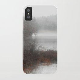 Foggy lake on a winter day - Nature Photography iPhone Case