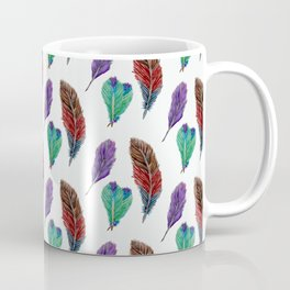 Feather Collection Pattern Coffee Mug