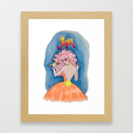 Jem Getting Down To Business Poster Framed Art Print