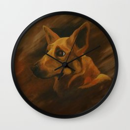 Native American Indian Dog Wall Clock