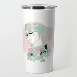 Floral Girl Travel Mug