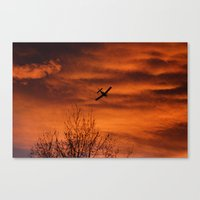 plane Canvas Prints featuring Plane by Fox Industries