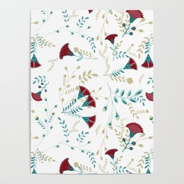 Egyptian Papyrus Flowers Poster