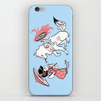 okami iPhone & iPod Skins featuring Painting with Okami by Miski