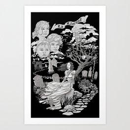 Hispanic Legend La Llorona (black and white) Art Print
