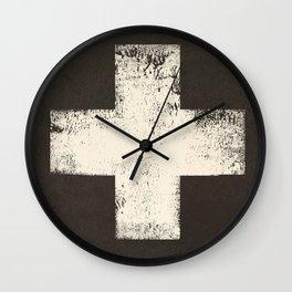 Ski Patrol Sign Cross X Vintage Wall Clock