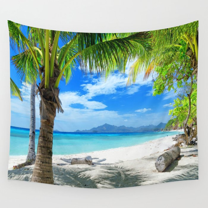 Tropical Beach Wall Tapestry By Robincurtiss Society6