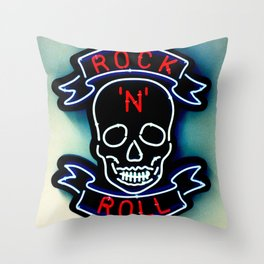 Rock'n'roll Throw Pillow