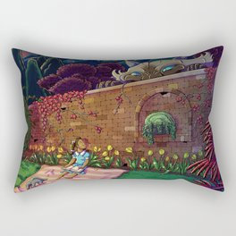 Amy In Wonderland Rectangular Pillow
