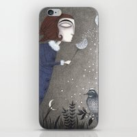 twilight iPhone & iPod Skins featuring Winter Twilight by Judith Clay