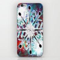snowflake iPhone & iPod Skins featuring Snowflake by Sarah Maurer