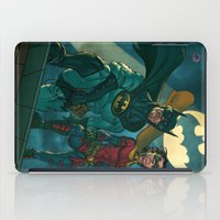 justice league iPad Cases featuring bat man the watch men justice league man of steel by Brian Hollins art