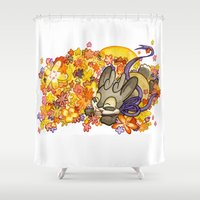 jackalope Shower Curtains featuring May Jackalope by JoJo Seames