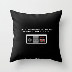 Its dangerous to go alone take this video game Throw Pillow