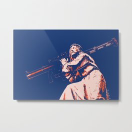 Rocket Propelled Christ - Who WOuld Jesus Blow Up Metal Print