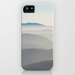 Foggy Mountains in the Distance (Color) iPhone Case