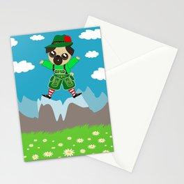 Alpine Pug Stationery Cards