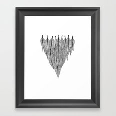 Feather Shield Framed Art Print