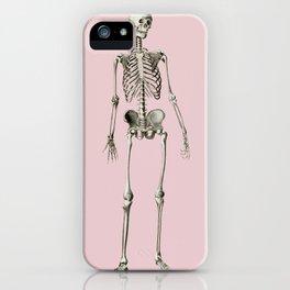 Vintage Human skeleton Illustration iPhone Case
