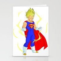 vegeta Stationery Cards featuring SUPER VEGETA by Javier Guijarro