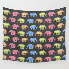 Elephants (Pop Art & Pattern) Wall Tapestry