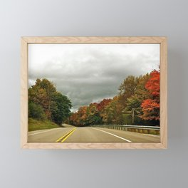 Fall Colors Drive Framed Mini Art Print