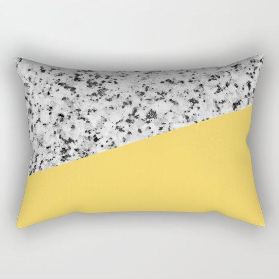 Granite and primrose yellow color Rectangular Pillow