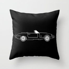 Classic Super Fast Sports Car Outline Throw Pillow