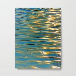 Gold Reflexion Metal Print