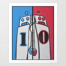 Binary Brothers 1 + 0 Art Print