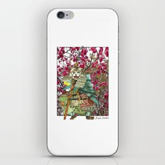 A Halfing Samurai Cat with a Spear and 2 Swords iPhone & iPod Skin