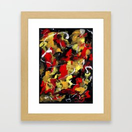 Rose Red Abstract Framed Art Print