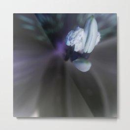 Negative Flower Metal Print