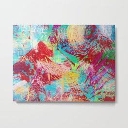 REEF STORM - Fun Bright BOLD Playful Rainbow Colors Underwater Ocean Reef Theme Coral Aquatic Life Metal Print