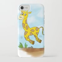 chad wys iPhone & iPod Cases featuring Chad the Prancing Giraffe  by Nuanc3d