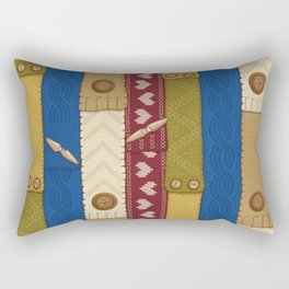 Scarves Knitted Buttoned Rectangular Pillow