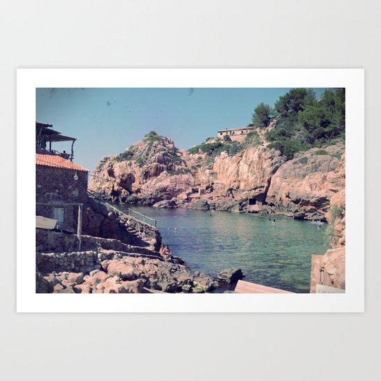 Hidden Coves On Spanish Islands Art Print
