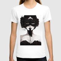 la T-shirts featuring La veuve affamee by Ludovic Jacqz