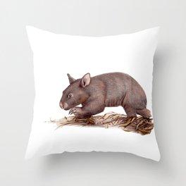 Wombat Walk Throw Pillow