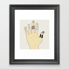 Finger Personas Framed Art Print