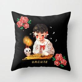 Dark Soulmates Throw Pillow