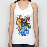 megaman Tank Tops featuring Megaman 2 by Patrick Towers
