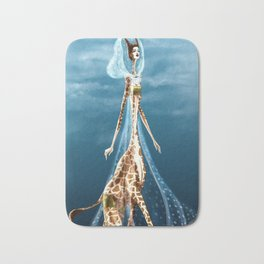 Giselle, the queen of the catwalk Bath Mat