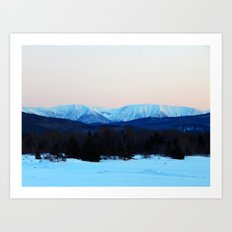 High Mountain in the Spring Art Print
