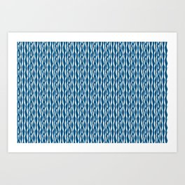 Stripes blue abstract pattern Art Print