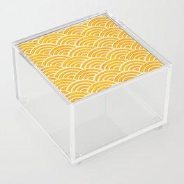 Japanese Seigaiha Wave – Marigold Palette Acrylic Box