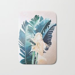 Tropical Bathing Beauty Bath Mat