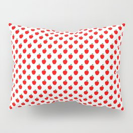 Red Apple Fruit Food Pattern Pillow Sham