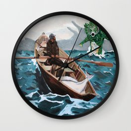 "Winslow Homer's ""Storm Warning"" Revisted Wall Clock"