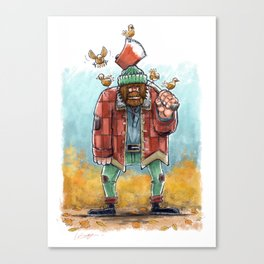 The Woodcutter & the birds Canvas Print
